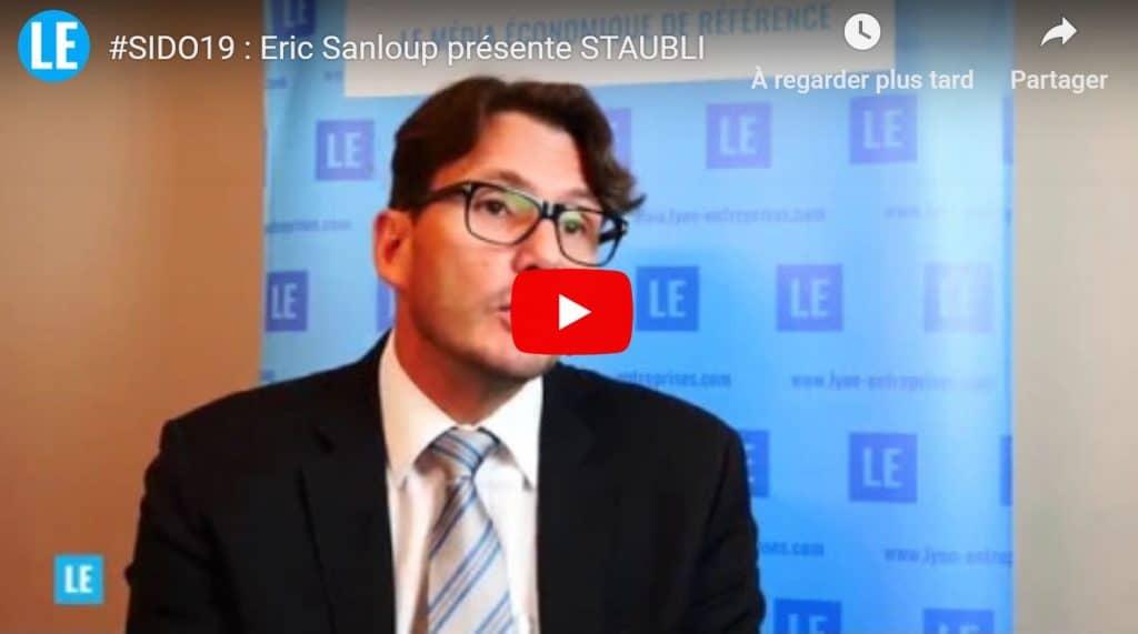 Eric Sanloup présente Staubli et son concept de robot collaboratif