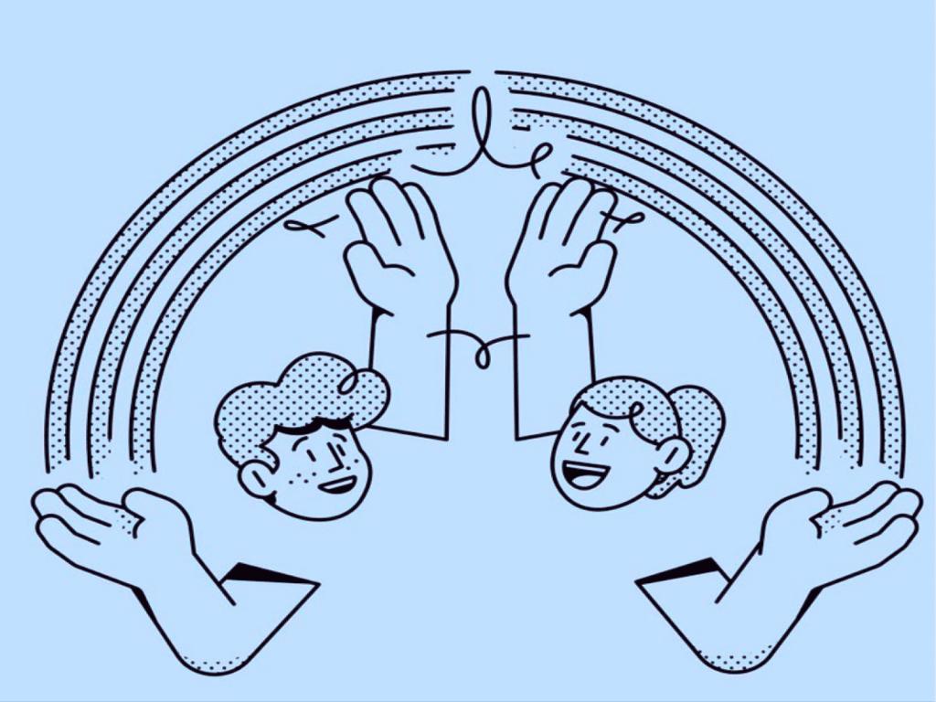 Dessin stylisé d'une expérience collaborateur réussie