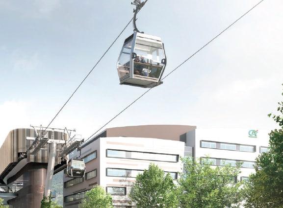 """Grenoble s'offre un téléphérique urbain ou """"métrocâble""""  pour 2024 à 65 millions d'euros"""