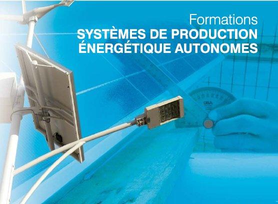 Formation systèmes autonomes de production d'énergie Solaire, Eolien, Hybride :intervention et maintenance sur les systèmes hybrides
