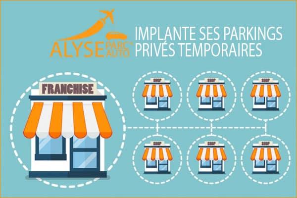 principe de franchise parking privé