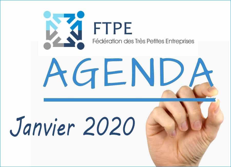 Janvier 2020 : les RDVs FTPE Aura [Fédération Très Petites Entreprises]