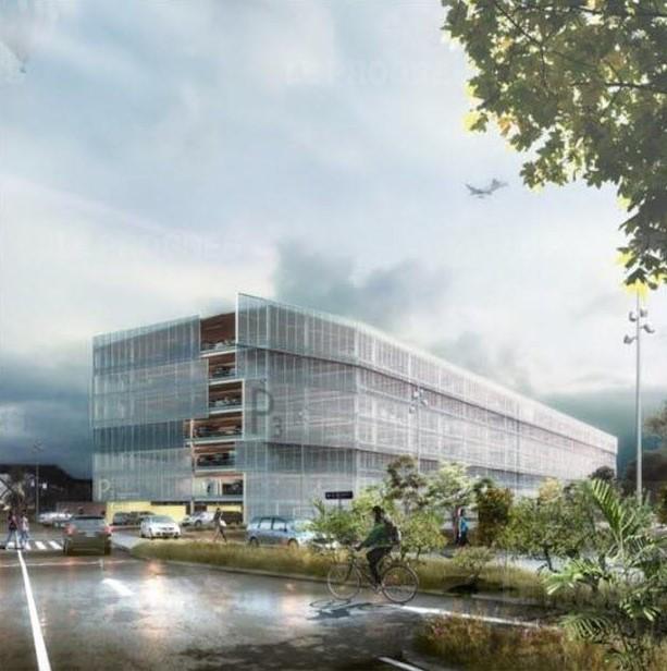 Les travaux d'un nouveau parking en silo de 2 000 places engagés à l'aéroport de Lyon-Saint Exupéry