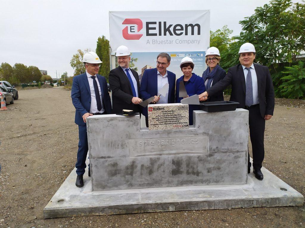 Top départ pour la construction du futur centre Recherche & Développement d'Elkem Silicones