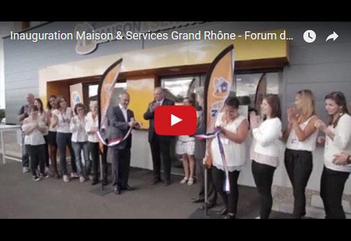 Inauguration du siège de Maison & Services Grand Rhône [vidéo]