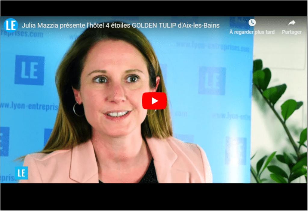 Julia Mazzia, directrice, présente l'hôtel Golden Tulip d'Aix-les-Bains