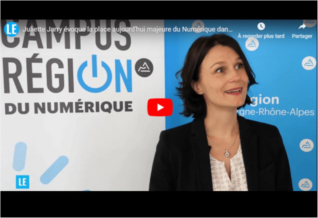 Juliette Jarry: «Il y aura des chaînes de production 4.0 au sein du futur campus numérique de Charbonnières»