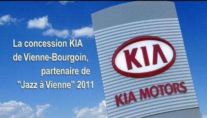 """La concession KIA de Vienne-Bourgoin partenaire de """"Jazz à Vienne"""" 2011"""