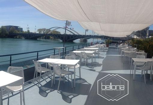 Le bateau Bellona ouvre sa terrasse aux entreprises et aux agences événementielles le 23 avril 2015