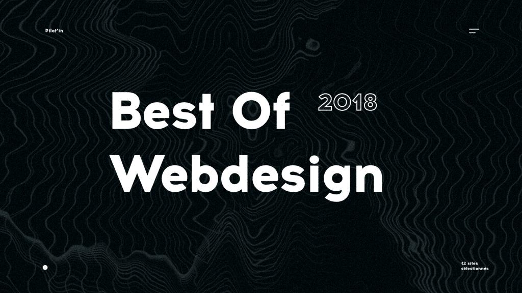 Le Best Of webdesign de 2018 par Pilot'in