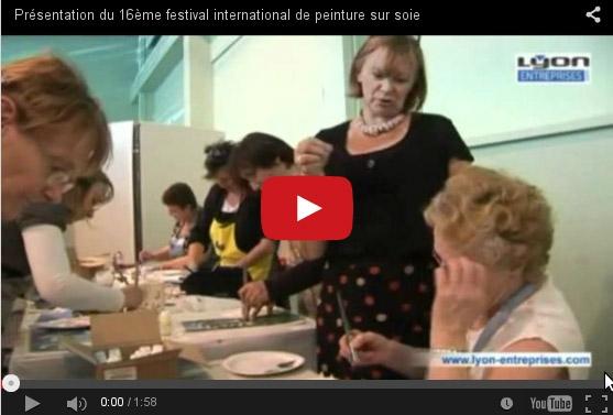 Le concours international de peinture sur soie festival de Chambon-Sur-Lignon