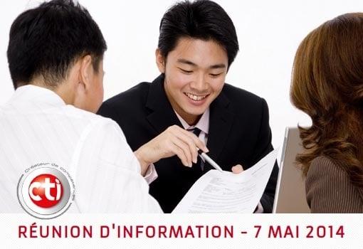 Le CTI présente ses formations à l'occasion de réunions d'informations bimensuelles