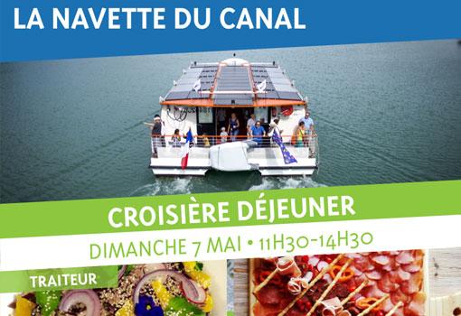 Le dimanche 7 Mai : jettez-vous à l'eau avec un Déjeuner Croisière sur la Navette du canal de Jonage