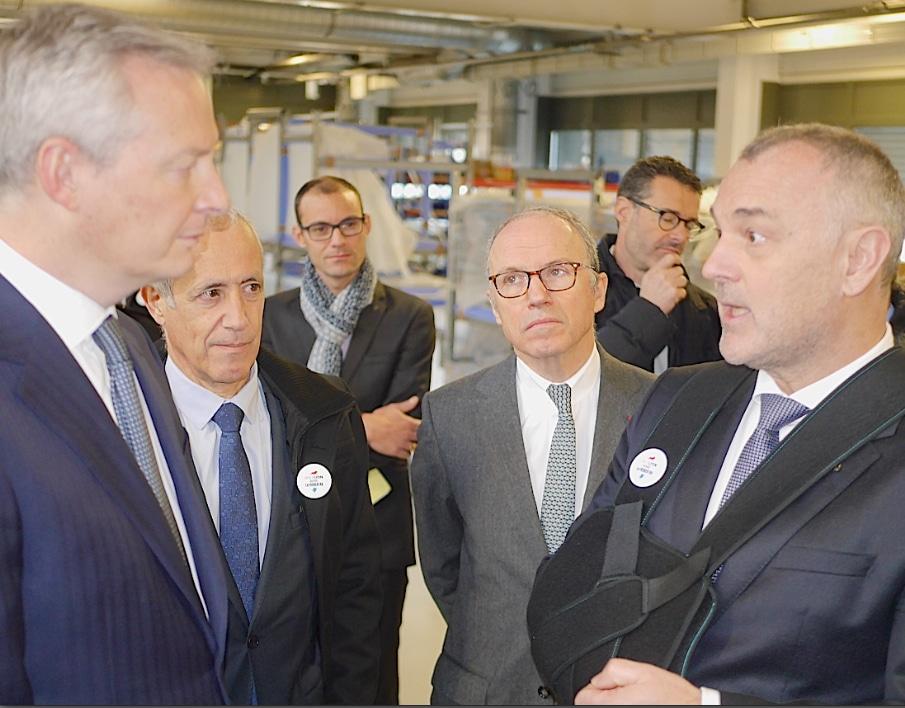 Le ministre de l'économie vient booster Boostheat à Vénissieux, une start-up créatrice d'une chaudière révolutionnaire