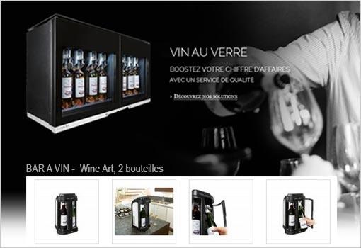 Le service du vin au verre pour le professionnel et le particulier est chez Espace Cave – EuroCave Lyon