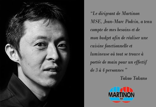 Les cuisines MARTINON MSE racontées par ses chefs : Takao Takano