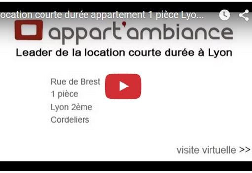 Location courte durée à Lyon 2ème, 1 pièce rue de Brest, Cordeliers