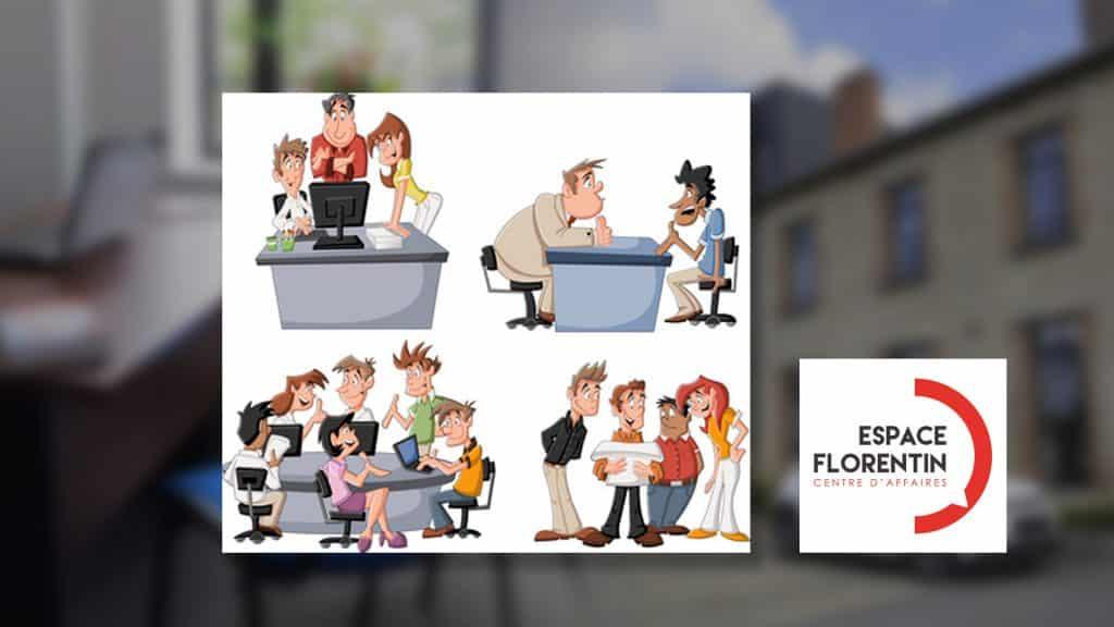 Location ponctuelle de bureaux meublés et équipés : la solution souple de l'espace Florentin