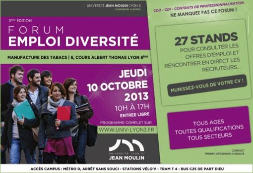 L'université Lyon III joue collectif en faveur de l'emploi avec la 3ème édition de son forum
