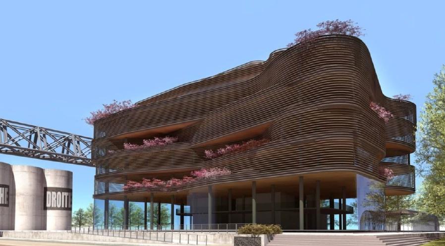 Lyon-Confluence: l'audacieux «Pavillon 52», livré
