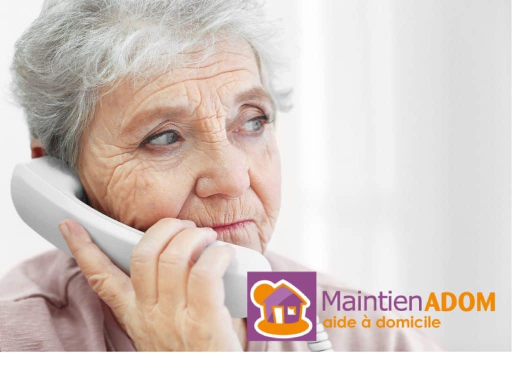 Maintien ADOM propose un service de téléassistance pour vieillir à domicile en toute sécurité