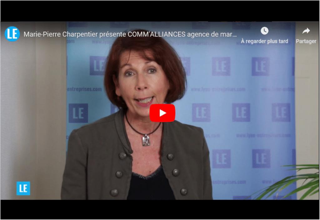 Marie-Pierre Charpentier, dirigeante de la société Comm'Alliances