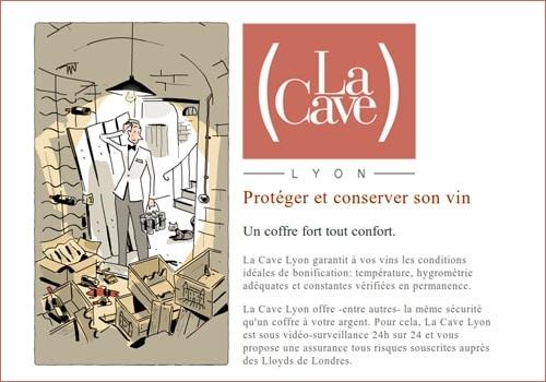 Mes vins de garde reposent en sécurité à La Cave Lyon