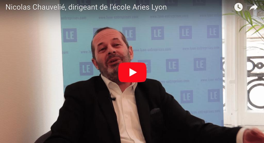 Nicolas Chauvelié, dirigeant de l'école Aries Lyon