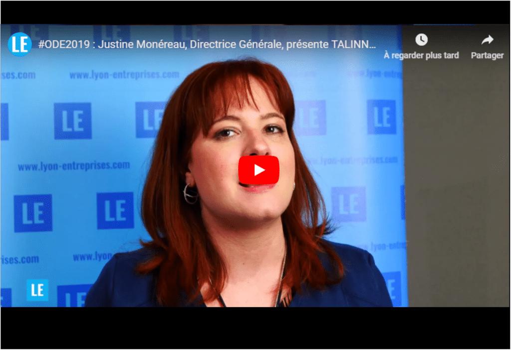 #ODE2019 : Justine Monérau, Directrice Générale, présente TALINNOV