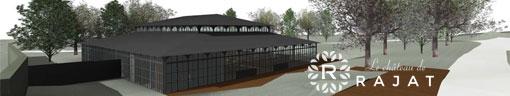 Projection 3D de la future Orangerie du Château de Rajat