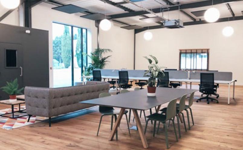 Ouverture d'un nouvel espace de co-working à Neyron, dans l'Ain.
