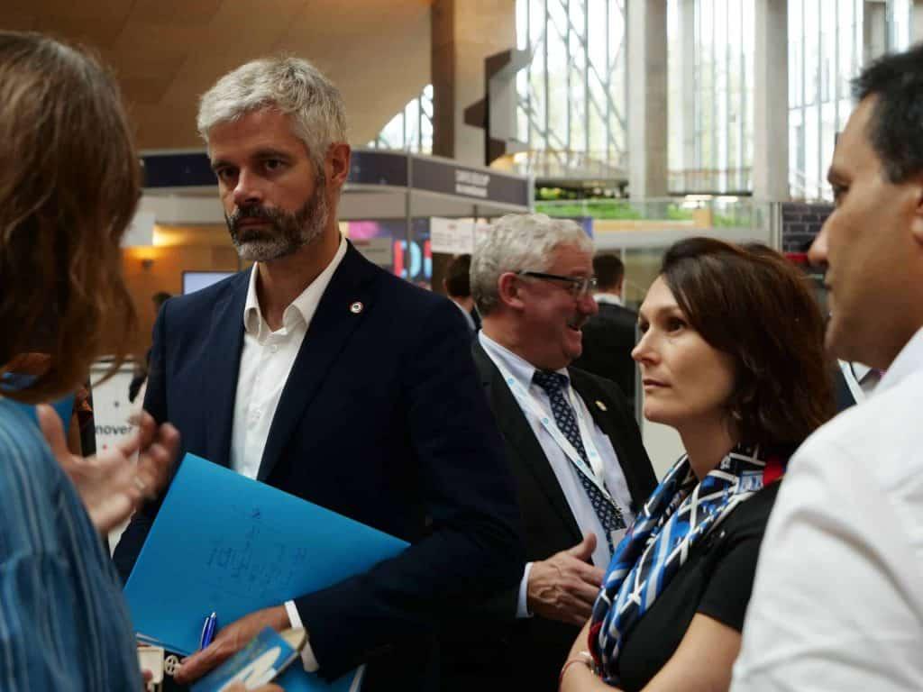 Laurent Wauquiez et Juliette Jarry durant le Digital Summit 2019