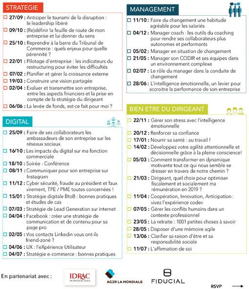 calendrier et thématiques des formation CPME 2018 2019