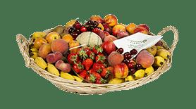 Corbeille de fruits d'été livrée en entreprise