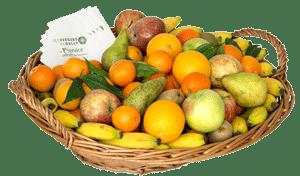 Corbeille de fruits d'hiver livrée en entreprise