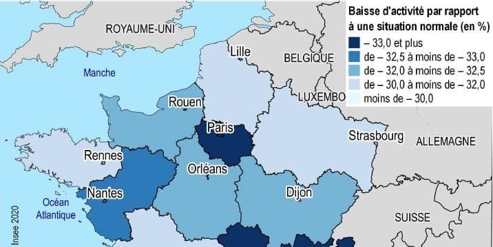 Avec la région parisienne, Auvergne-Rhône-Alpes, région la plus touchée par la baisse de l'activité économique en France
