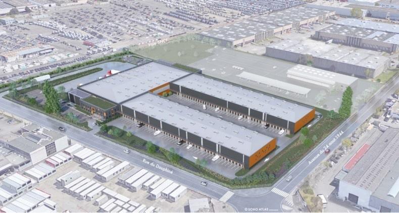 Le BTP repart : lancement du chantier de 13 500 m² d'un bâtiment logistique à Corbas, dans l'est Lyonnais