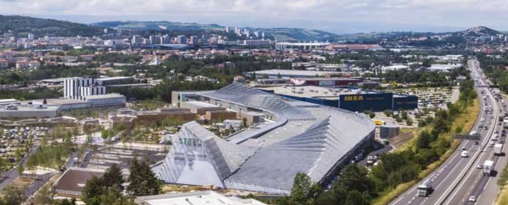 """Un nouveau centre commercial voit le jour près d'Ikea à Saint-Etienne :  """"Steel"""", 70 000 m2"""