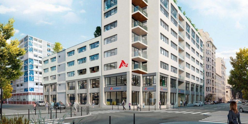 Un nouveau siège social de 4 200 m2 dans le 6ème arrondissement de Lyon pour l'Auxiliaire
