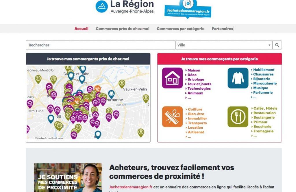 """Plus un annuaire qu'une place de marché : Laurent Wauquiez a mis en ligne le site régional de e.commerce, """"jachetedansmaregion"""""""