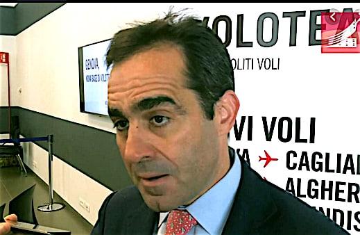 Carlos Munoz Pdg de la compagnie aérienne Volotea à Lyon, jeudi, pour des annonces importantes