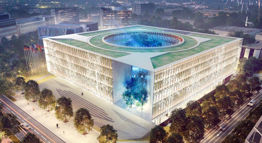 Il verra le jour en 2022 : pose de la première pierre du Centre International de Recherche contre le Cancer à Lyon-Gerland