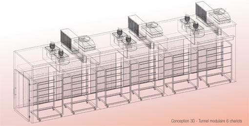 plan 3D de séchoir alimentaire industriel