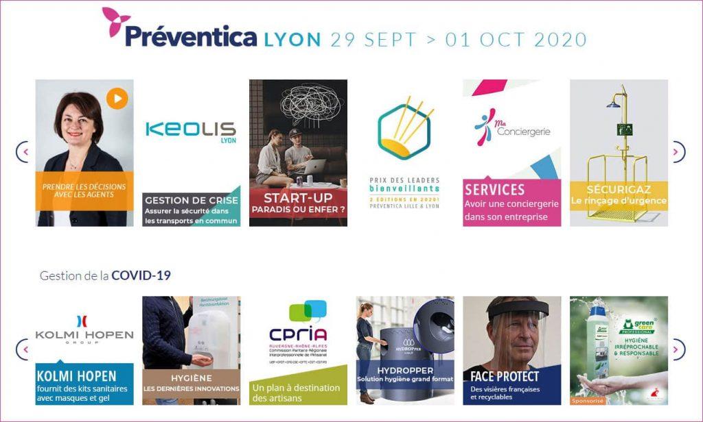Préventica Lyon 29 Septembre > 1er Octobre 2020 : nos TPE PME championnes de la prévention des risques professionnels