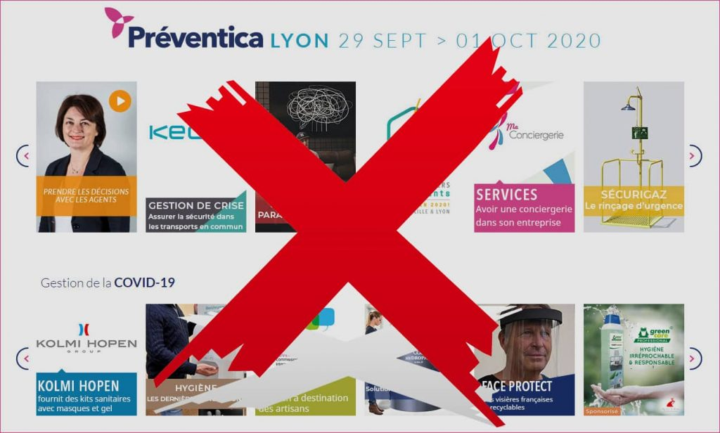 Préventica Lyon 29 Septembre > 1er Octobre 2020 : reporté