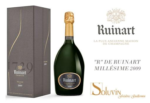 """""""R"""" de RUINART, Millésime 2009 l'année solaire – chez SOLUVIN"""