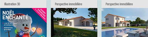 Perspectives immobilières et illustrations 3D