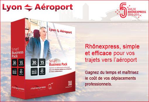 Déplacement aéroport Lyon, Smart Business Pack RhônExpress