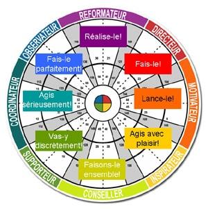 Insight Practeam - roue des couleurs de Jung
