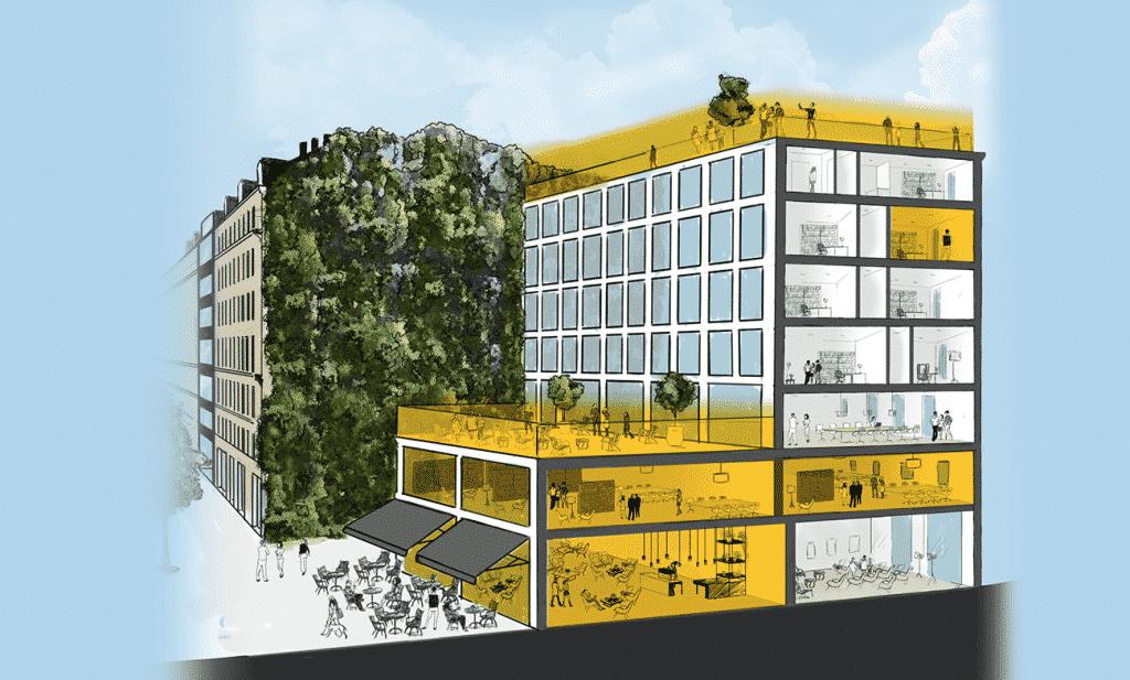 Hiptown Part Dieu : 2500m2 de coworking et de bureaux écoresponsables dès janvier 2021